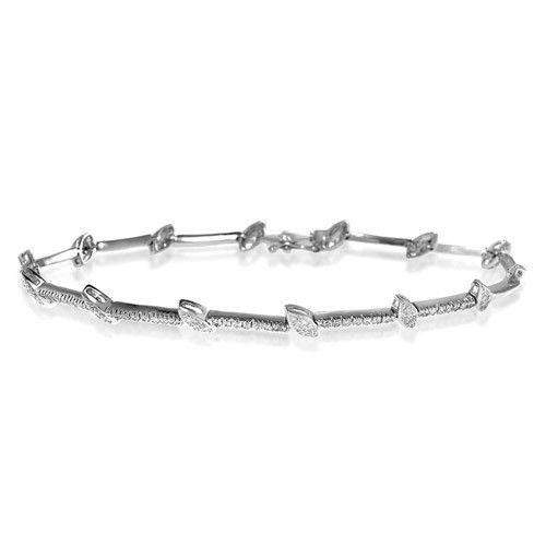 18ct White Gold & Diamond Bracelet - H1123
