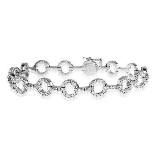 18ct White Gold & Diamond Bracelet - H1124-Ogham Jewellery