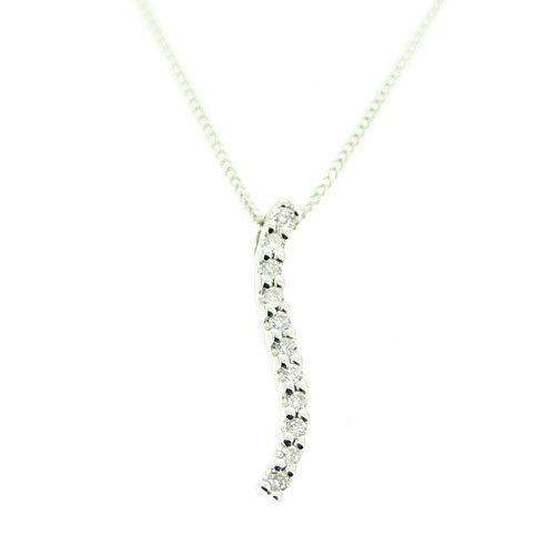 18ct White Gold & Diamond Pendant-P2J47-Ogham Jewellery