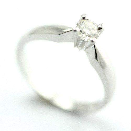 18ct White Gold Engagement Ring 0.25ct Certificated Diamond-Ogham Jewellery