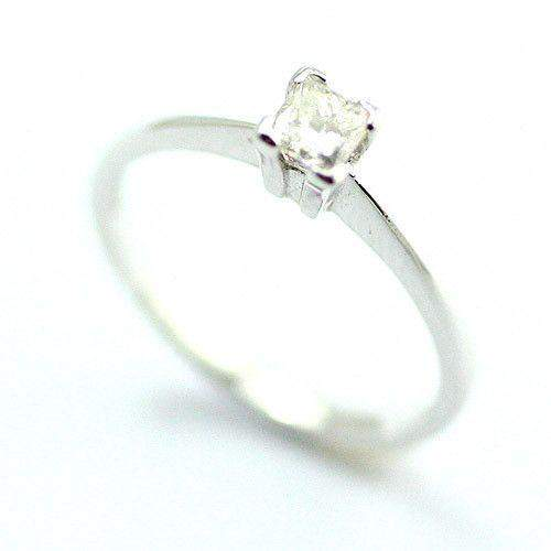 18ct White Gold Princess Cut Diamond Ring 0.25ct-Ogham Jewellery