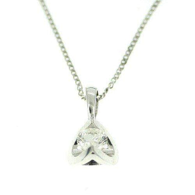 18ct White Gold Round Diamond Pendant 0.25 Carats-Ogham Jewellery