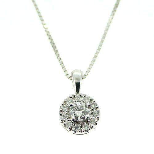 d1e7d0ad8bb6f 18ct White Gold Round Diamond Pendant P1875W-Ogham Jewellery