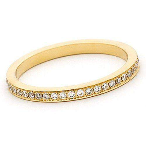 18ct White, Yellow or Rose Gold 0.33Ct Diamond Eternity Ring - 1R16-18D-Ogham Jewellery