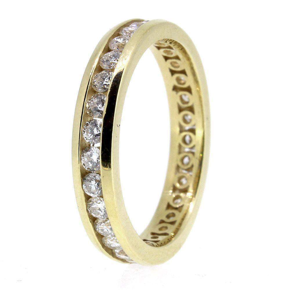 Yellow Gold and Diamond 0.50 Carat Eternity ring-Ogham Jewellery
