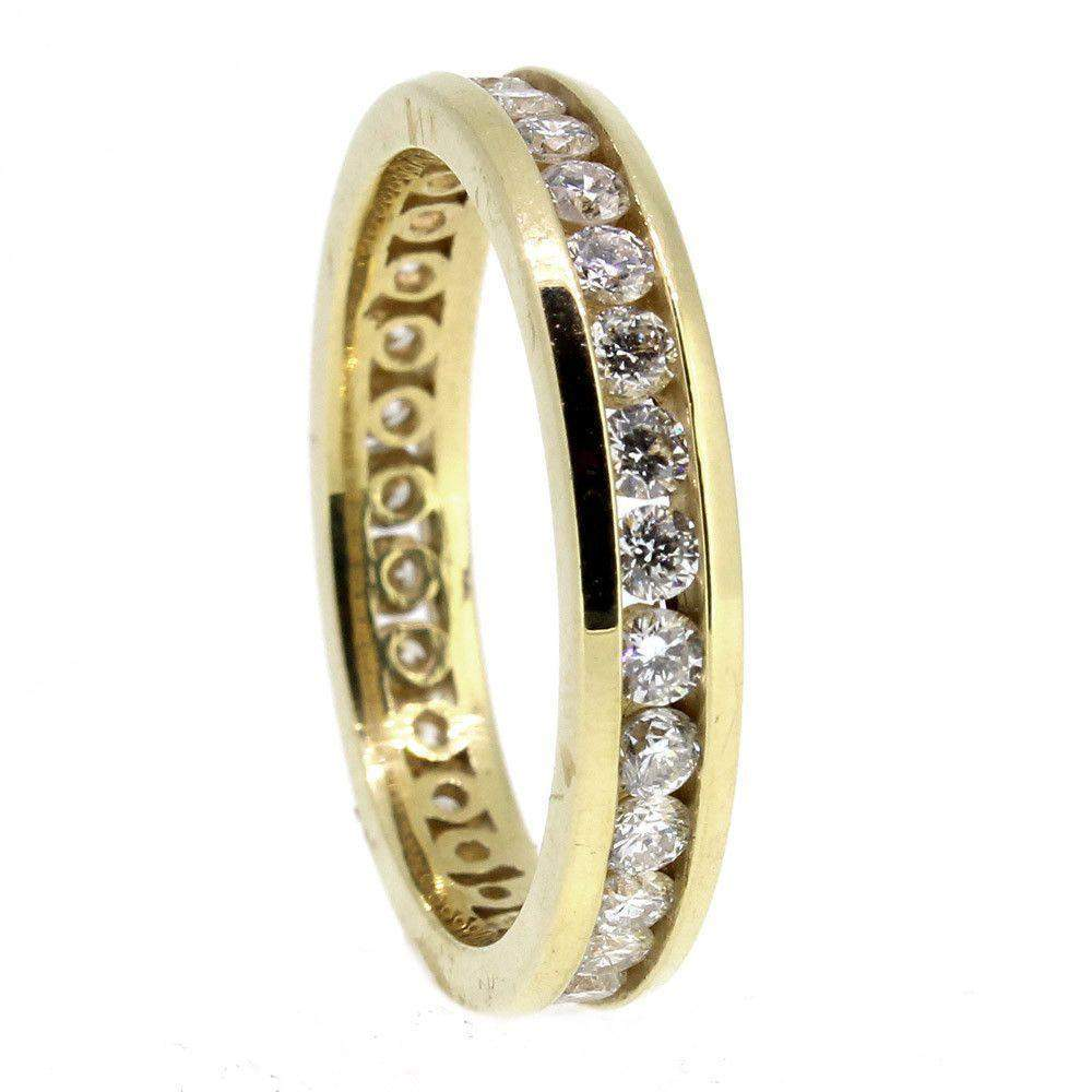 Yellow Gold and Diamond 0.75 Carat Eternity ring-Ogham Jewellery