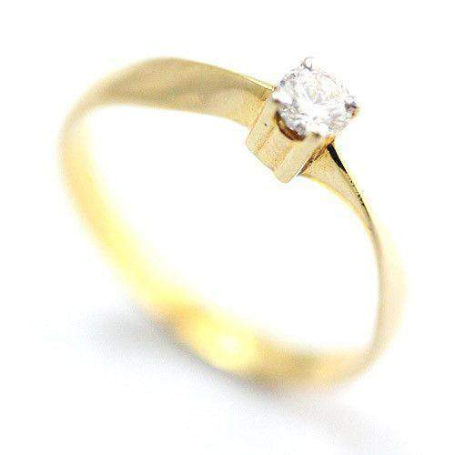 18ct Yellow Gold 0.19ct Certificated DIF Diamond Engagement Ring-Ogham Jewellery