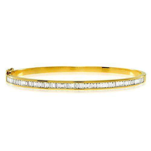 18ct Yellow Gold & Diamonds Bangle - K1013-Ogham Jewellery