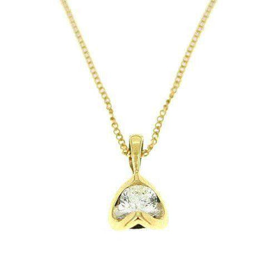 18ct Yellow Gold Round Diamond Pendant 0.25 Carats-Ogham Jewellery