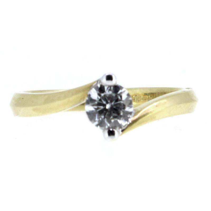 18ct Yellow Gold Twist Diamond Engagement Ring 0.33ct