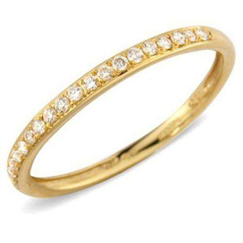 18ct Yellow or White Gold & Round Diamonds Half Eternity Ring 0.13ct - S1J07-Ogham Jewellery