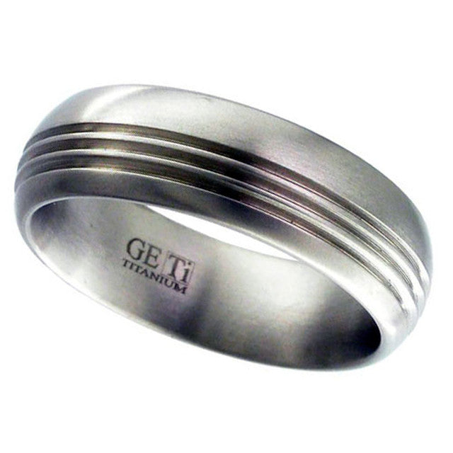 Titanium Ring With Central Rail - 2206