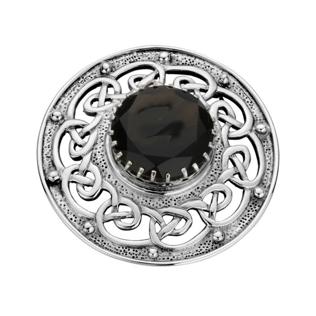 Sterling Silver Plaid Brooch - NO212