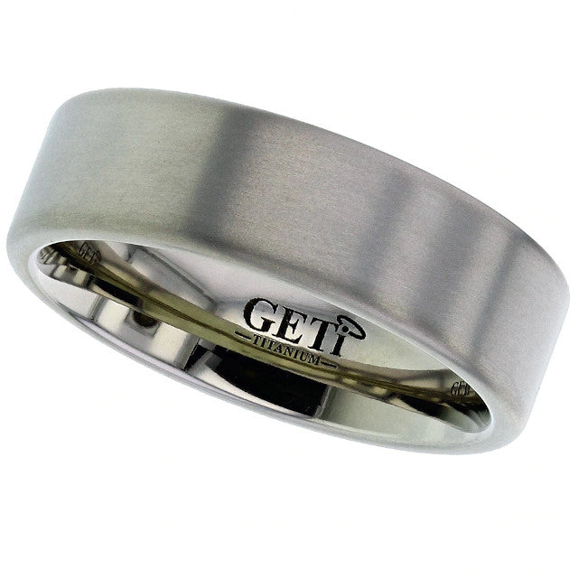 Titanium Ring With Softened Edges  2226