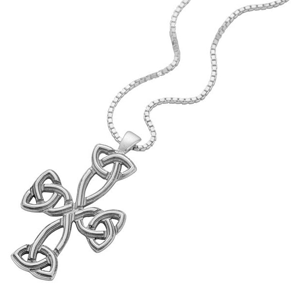Sterling Silver Stylised Cross of Peace Pendant - NO283