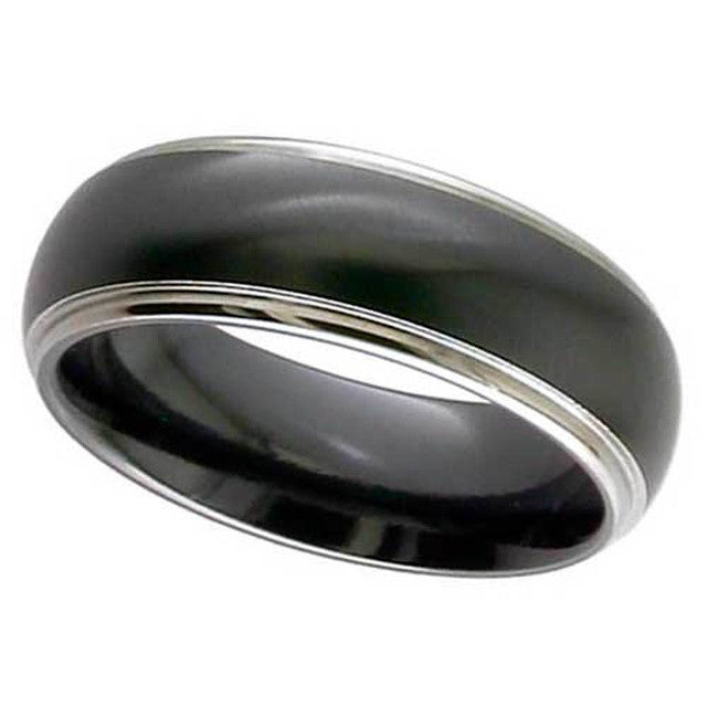 Dome Profile Zirconium Ring - 4005RB-REV
