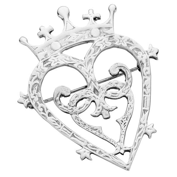 "Sterling Silver ""Mary Queen of Scots"" Luckenbooth Brooch - NO040"