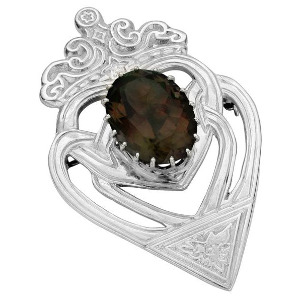 Sterling Silver Large Luckenbooth Brooch - NO046 AME