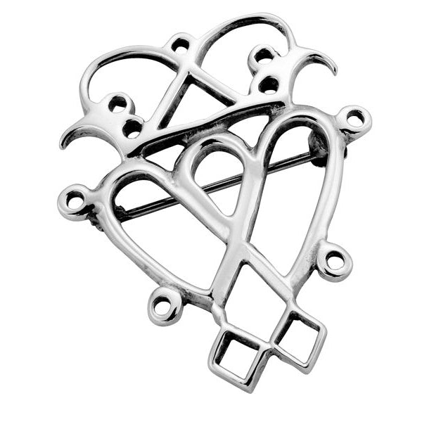 Sterling Silver Contemporary Luckenbooth Brooch - NO050