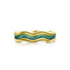 Sands of Time 18ct Gold Enamel Ring - ER86