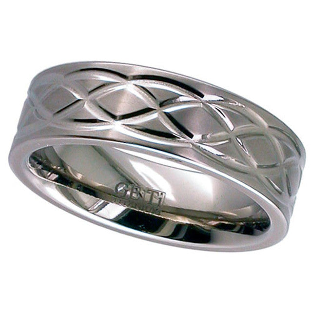 Titanium Celtic Knot Wedding Ring  T018
