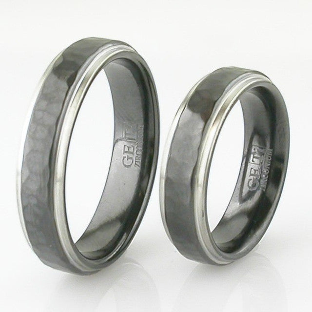 Hammered Zirconium Ring - 4001HRB-REV