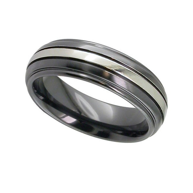 Zirconium Wedding Band - 4005iGRB