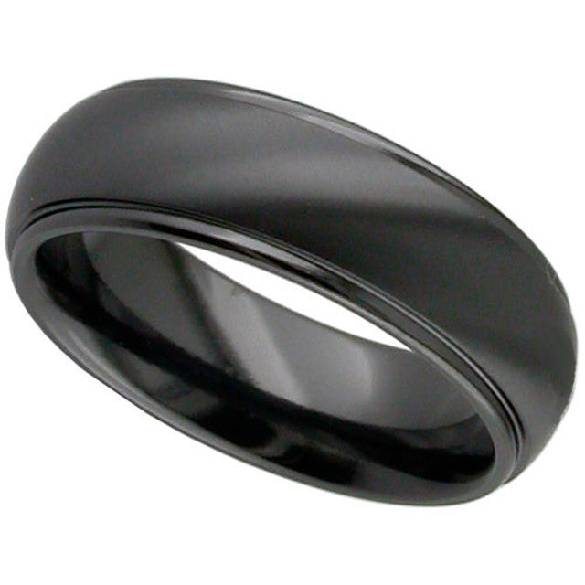 Dome Profile Zirconium Ring - 4005B