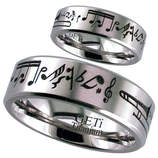 Musical Notes Titanium Ring - 2226CH-MUSIC1