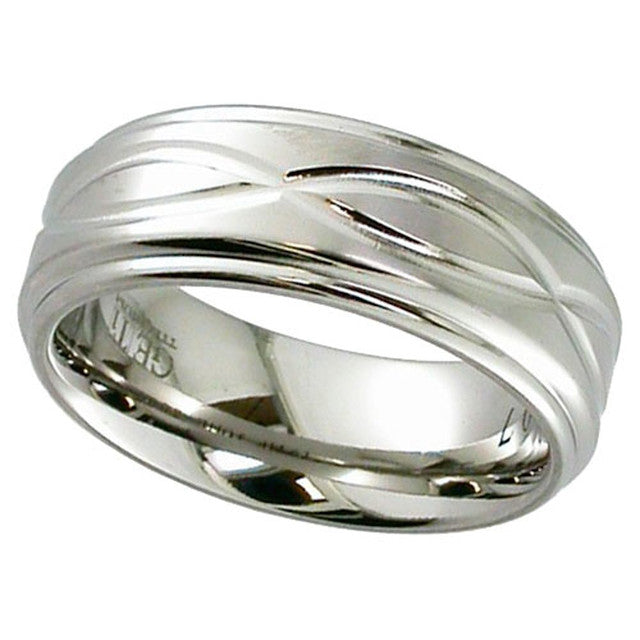 Titanium Ring With Infinity Pattern - 2201DX