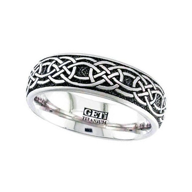 Titanium Celtic Knotwork Ring - 2204-CLK1