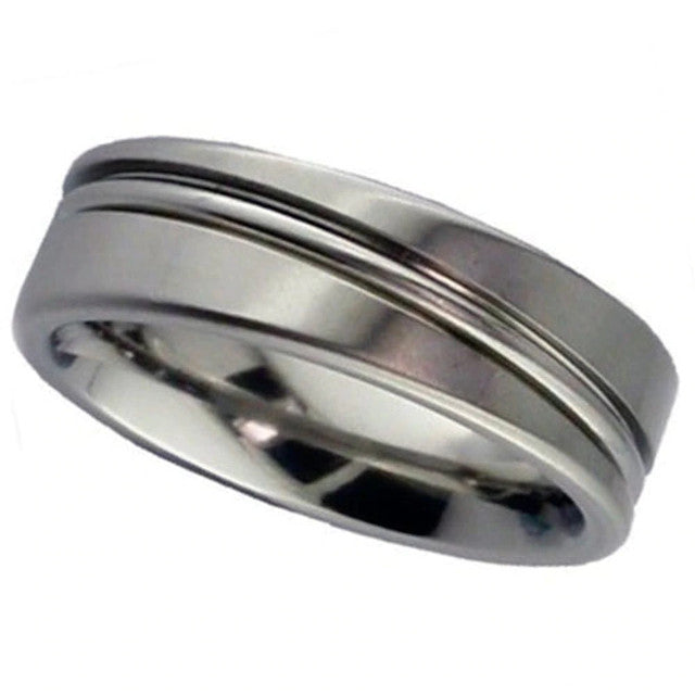 Flat Profile Titanium Ring - 2216