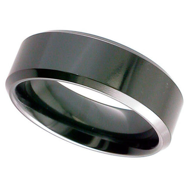 Chamfered Edge Zirconium Band - 4026CHB