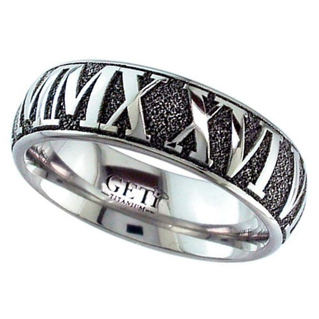 Mens Titanium Ring - 2204RN-INV