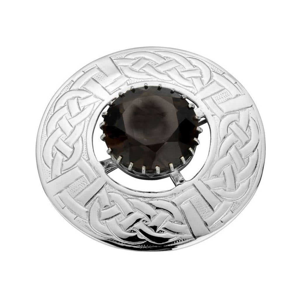 Sterling Silver Celtic Plaid Brooch - NO007