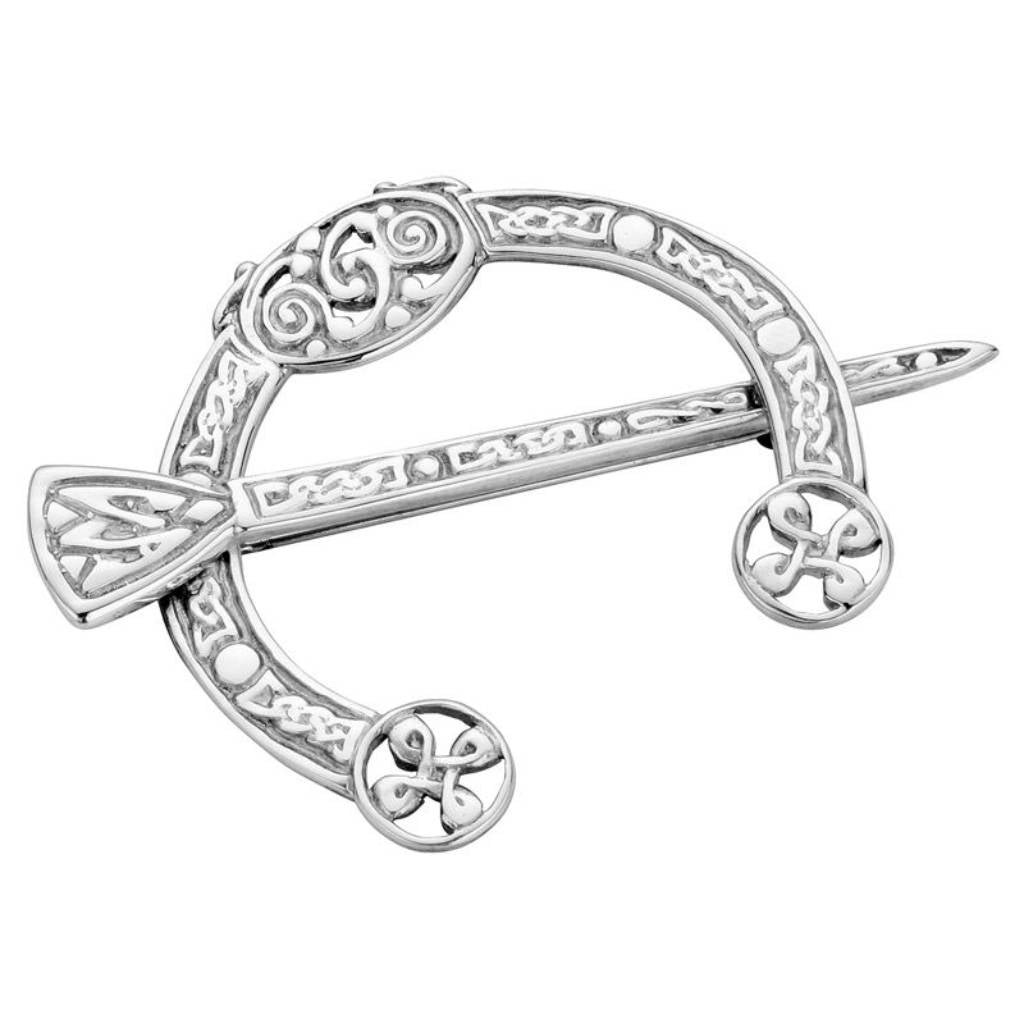 Sterling Silver Celtic Pennanular Brooch - NO080