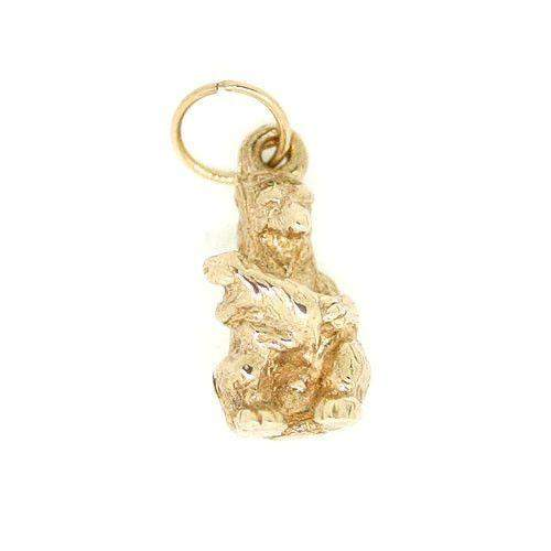 9 Carat Gold Bear with Cub Charm-Ogham Jewellery