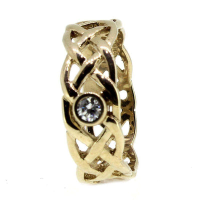 9 Carat Gold Celtic diamond ring GDR1-Ogham Jewellery