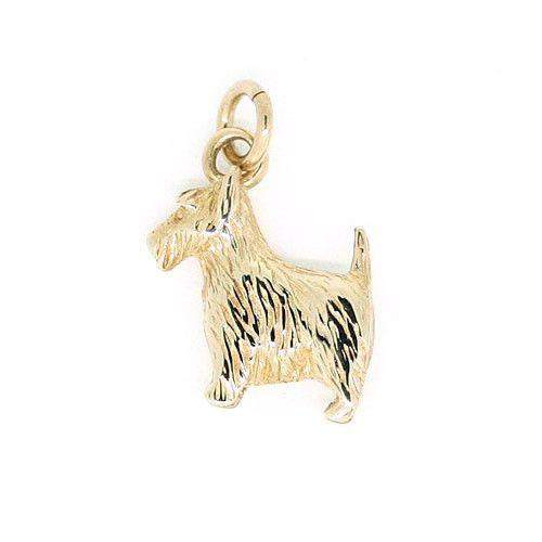 9 Carat Gold Scottie Dog Charm-Ogham Jewellery