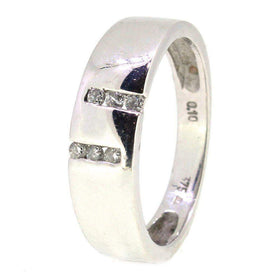9 Carat White Gold Diamond Ring-Ogham Jewellery