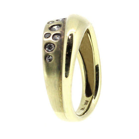 9 Ct Gold & Diamond Designer Dress Ring-Ogham Jewellery