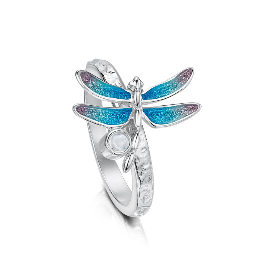 Dragonfly Sterling Silver and Enamel Ring - ESR240