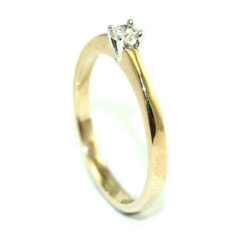 9ct Gold Diamond Engagement Ring 4046 - 0.15ct-Ogham Jewellery