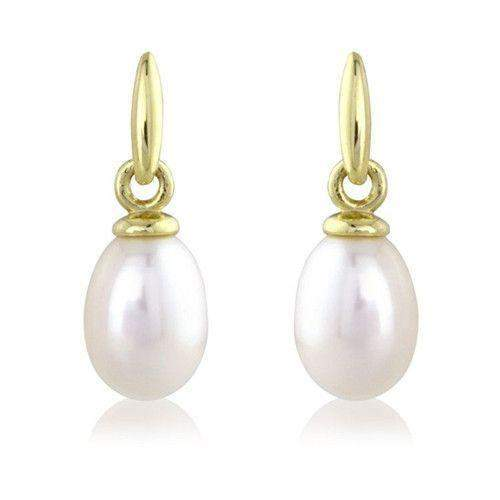 9ct Gold Pearl Drop Earrings - D119517CP