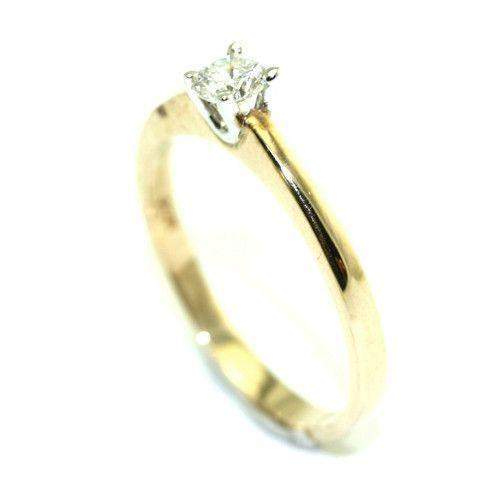 9ct Gold Round Brilliant Cut Diamond Engagement Ring 0.2ct-Ogham Jewellery