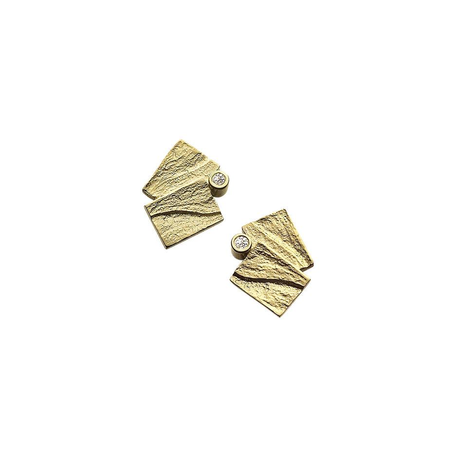 9ct Gold Sheila Fleet Earrings - DE0137-Ogham Jewellery