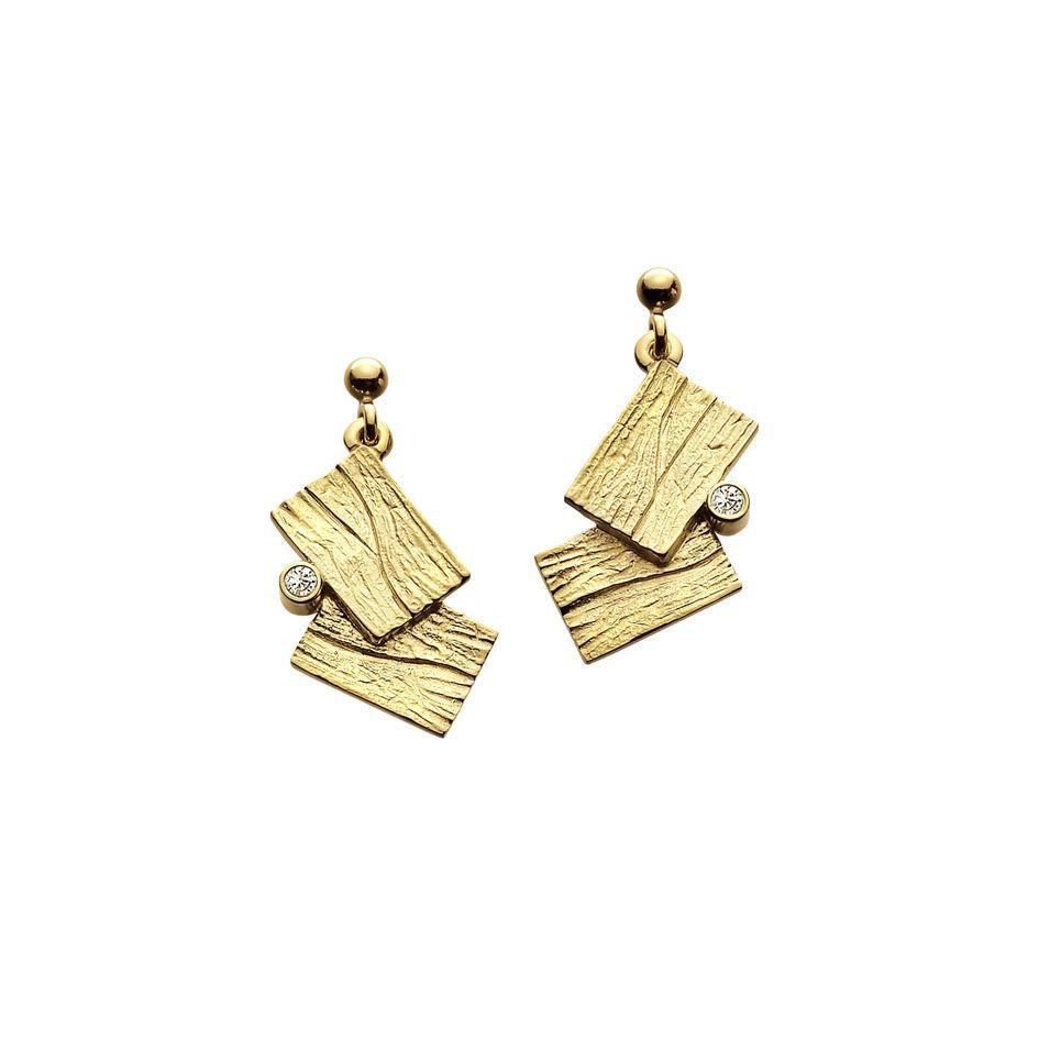 9ct Gold Sheila Fleet Earrings - DEX137-Ogham Jewellery