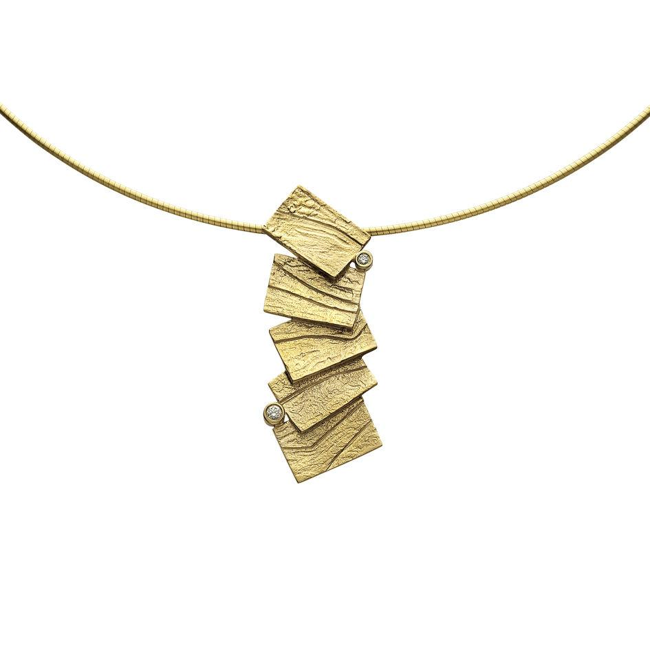 9ct Gold Sheila Fleet Necklet - DN137-Ogham Jewellery