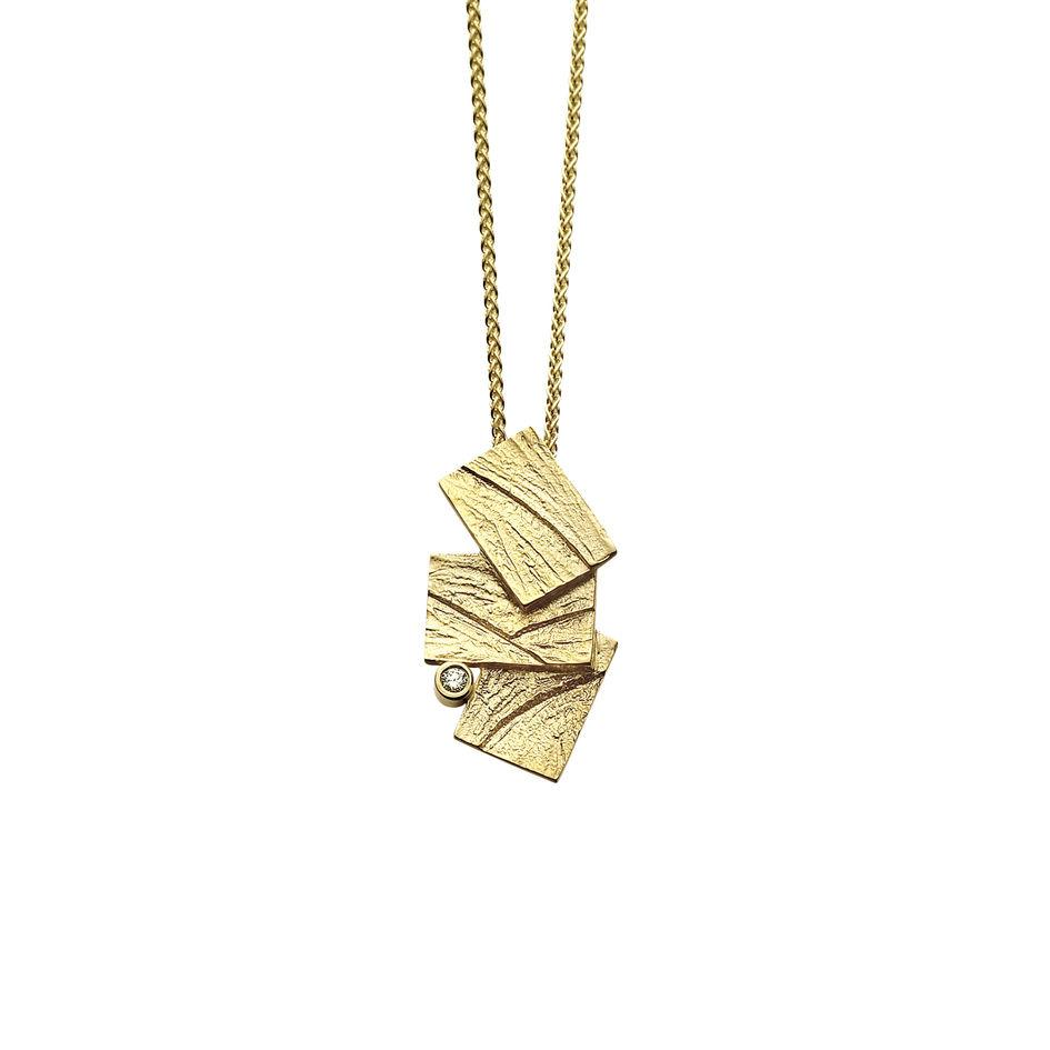 9ct Gold Sheila Fleet Pendant - DP0137-Ogham Jewellery