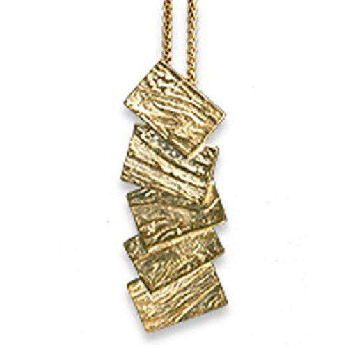 9ct Gold Sheila Fleet Pendant - 'Flagstone' P137-Ogham Jewellery